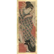 Kikugawa Eizan: Courtesan on Stairs - Museum of Fine Arts