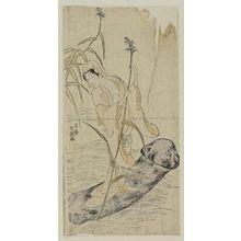 一筆斉文調: Female Daruma Riding a Mushroom - ボストン美術館