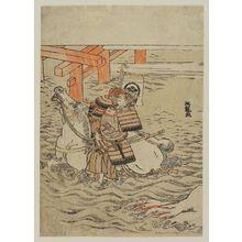 磯田湖龍齋: Battle of Uji Bridge - ボストン美術館