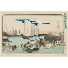Utagawa Hiroshige: Evening View of Takanawa (Takanawa no yûkei), from the series Famous Places in the Eastern Capital (Tôto meisho) - Museum of Fine Arts