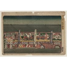 歌川広重: Decorations for the Opening of the Theater Season in Saruwaka-machi (Saruwaka-machi kaomise kazarimono), from the series Famous Places in the Eastern Capital (Tôto meisho) - ボストン美術館