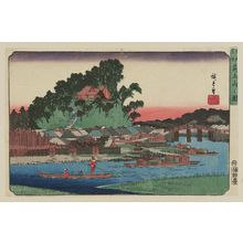 Utagawa Hiroshige: View of Matsuchiyama (Matsuchiyama no zu), from the series Famous Places in the Eastern Capital (Tôto meisho) - Museum of Fine Arts