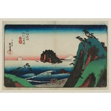 歌川広重: Seven-Mile Beach in Sagami Province (Sôshû Shichiri-ga-hama), from the series Famous Places in Our Country (Honchô meisho) - ボストン美術館