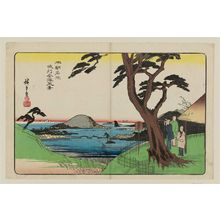 歌川広重: View of Kanazawa in Musashi Province (Bushû Kanazawa fûkei), from the series Famous Places of Our Country (Honchô meisho) - ボストン美術館