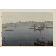 吉田博: Fog on the Sumida River (Sumidagawa kiri), from the series Twelve Scenes of Tokyo (Tôkyô jûni dai no uchi) - ボストン美術館