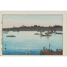 Yoshida Hiroshi: The Sumida River, Afternoon (Sumidagawa), from the series Twelve Scenes of Tokyo (Tôkyô jûni dai no uchi) - Museum of Fine Arts