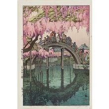 Yoshida Hiroshi: Wistaria at Kameido. Series: Tokyo Juni Dai - Museum of Fine Arts