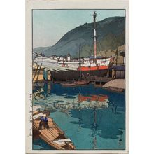 Yoshida Hiroshi: Kinoe harbor [from the The Inland Sea (Seto-Naikai) series] - Museum of Fine Arts