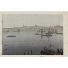 吉田博: The Sumida river in mist [from the Twelve Views of Tokyo )Tokyo Juni-dai) series] - ボストン美術館