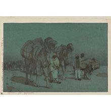 Yoshida Hiroshi: Caravan from Afghanistan [on a Moonlit Night] (Afuganisutan no kyaraban tsuki yo) - Museum of Fine Arts