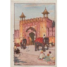 吉田博: Ajmer Gate, Jaipur (Jaipuuru no Ajumeru mon) - ボストン美術館