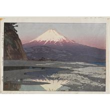 Yoshida Hiroshi: Fujiyama from Okitsu (Okitsu), from the series Ten Views of Mount Fuji (Fuji jukkei) - Museum of Fine Arts