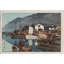 Yoshida Hiroshi: Harbor of Tomonoura (Tomo no minato), from the series Inland Sea (Seto naikai) - Museum of Fine Arts