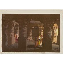 吉田博: Erora dai-san-go Kutsuin (Ellora, No. 3, A Cave Temple) - ボストン美術館