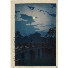 吉田博: Hirakawa Bridge (Hirakawa-bashi), from the series Twelve Scenes of Tokyo (Tôkyô jûni dai) - ボストン美術館