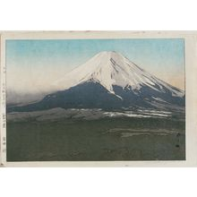 Yoshida Hiroshi: Yoshida Village (Yoshida mura), from the series Ten Views of Mount Fuji (Fuji jukkei) - Museum of Fine Arts