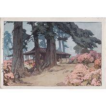 Yoshida Hiroshi: Tea House in Azalea Garden - Museum of Fine Arts