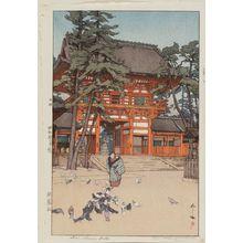 Yoshida Hiroshi: Gion Shrine Gate (Gion yashiro) - Museum of Fine Arts