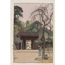 Yoshida Hiroshi: Plum Gateway (Ume no ie) - Museum of Fine Arts