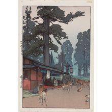 吉田博: Way to the Kasuga Shrine (Kasuga sandô) - ボストン美術館