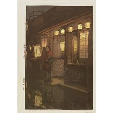Yoshida Hiroshi: A Little Restaurant [at Night] (Ryôriya no yoru) - Museum of Fine Arts