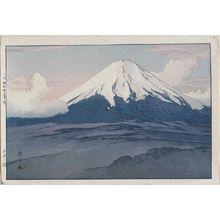 Yoshida Hiroshi: Fuji-san from Yamanaka (Yamanaka mura) - Museum of Fine Arts