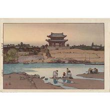 Yoshida Hiroshi: Taedong (Daido) Gate, Pyong-Yang, Korea - Museum of Fine Arts