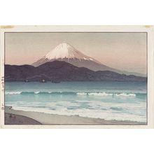吉田博: Fujiyama from Miho (Miho) - ボストン美術館