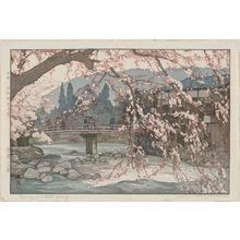 Yoshida Hiroshi: Spring in a Hot Spring (Onsen no haru) - Museum of Fine Arts