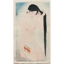 Asai Kiyoshi: Black Hair. Series: Kindai Jisei no sho no uchi go. - Museum of Fine Arts