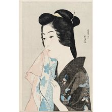 Hashiguchi Goyo: The Geisha Hisae with a Towel - Museum of Fine Arts