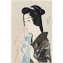 橋口五葉: The Geisha Hisae with a Towel - ボストン美術館