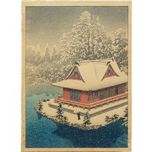 川瀬巴水: Inokashira in Snow (Inokashira no yuki) - ボストン美術館