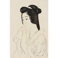 Hashiguchi Goyo: Portrait of Hisae with a Towel - Museum of Fine Arts
