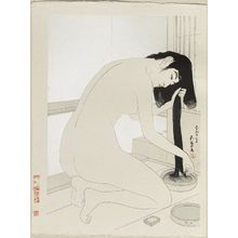 Hashiguchi Goyo: Woman Washing Her Hair - Museum of Fine Arts