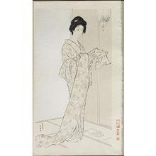 橋口五葉: Girl in Summer Costume (Natsu yosooi no musume) - ボストン美術館