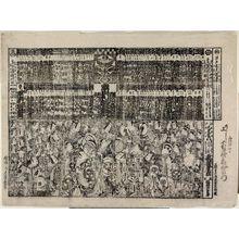 鳥居清長: Kabuki theater program (tsuji banzuke) - ボストン美術館