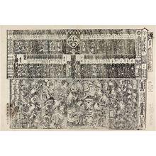 Torii Kiyonaga: Kabuki theater program (tsuji banzuke) - Museum of Fine Arts