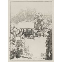 Yoshida Hiroshi: Snow at Nakazato (Nakazato no yuki), from the series Twelve Scenes of Tokyo (Tôkyô jûni dai no uchi) - Museum of Fine Arts