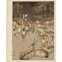 Yoshida Hiroshi: Deer at the Kasuga Shrine (Kasuga no shika) - Museum of Fine Arts