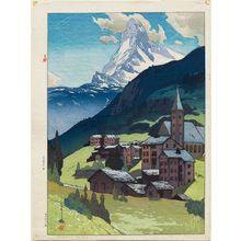 吉田博: Matterhorn, Daytime (Matahorun-yama) - ボストン美術館