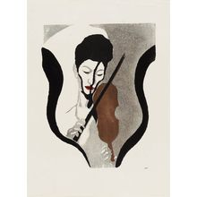 Onchi Koshiro: Impression of a Violinist - Museum of Fine Arts