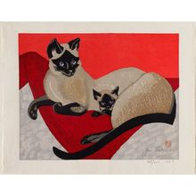 Sekino Jun'ichiro: Siamese Cat and Kitten - Museum of Fine Arts