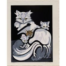 Sekino Jun'ichiro: Cat and Three Kittens - Museum of Fine Arts