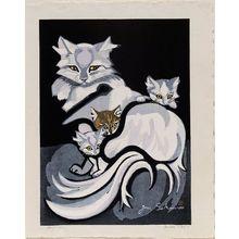 関野準一郎: Cat and Three Kittens - ボストン美術館