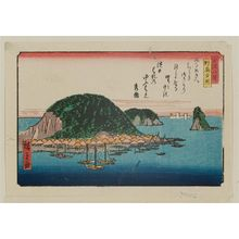 歌川広重: Sunset Glow at Nojima (Nojima yûshô), from the series Eight Views of Kanazawa (Kanazawa hakkei) - ボストン美術館