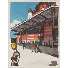 恩地孝四郎: Tokyo Station - ボストン美術館