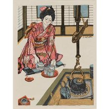 Sekino Jun'ichiro: Girl Pouring Tea - Museum of Fine Arts