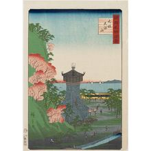 Utagawa Hiroshige II: Tenpôzan Hill in Osaka (Ôsaka Tenpôzan), from the series One Hundred Famous Views in the Various Provinces (Shokoku meisho hyakkei) - Museum of Fine Arts