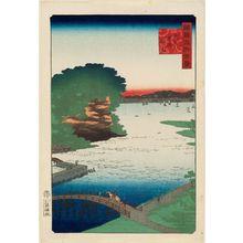 二歌川広重: Noge at Yokohama in Musashi Province (Bushû Yokohama noge), from the series One Hundred Famous Views in the Various Provinces (Shokoku meisho hyakkei) - ボストン美術館